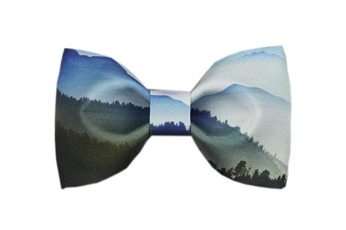 6f900d1270fb4 Conception Cravate Pi¨¦mont Textile Printing Noeud Papillon Noir Bleu Blanc)