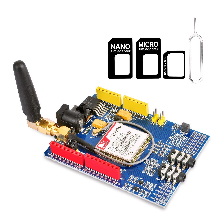 Placa De Desarrollo Gowoops Quad-band Gsm Gprs Sim900 Shield Para Arduino Uno