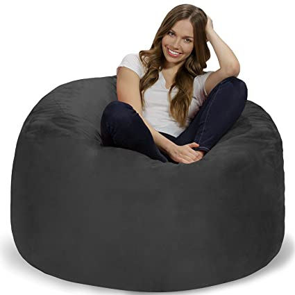 Chill Sack Bean Bag Chair: Giant 4u0027 Memory Foam Furniture Bean Bag   Big