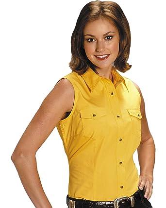 7c482e41766e8e Roper Women's Stretch Poplin Sleeveless Shirt Plus at Amazon Women's  Clothing store: