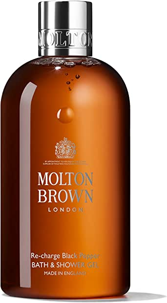 Molton Brown Re-Charge Black Pepper Bath and Shower Gel, 300 ml
