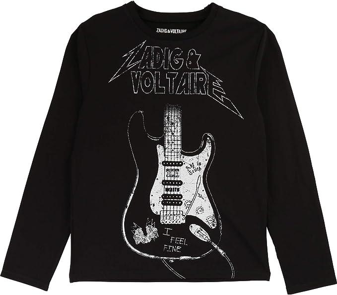 Zadig & Voltaire Kids - Camiseta de Manga Larga para niño, diseño ...