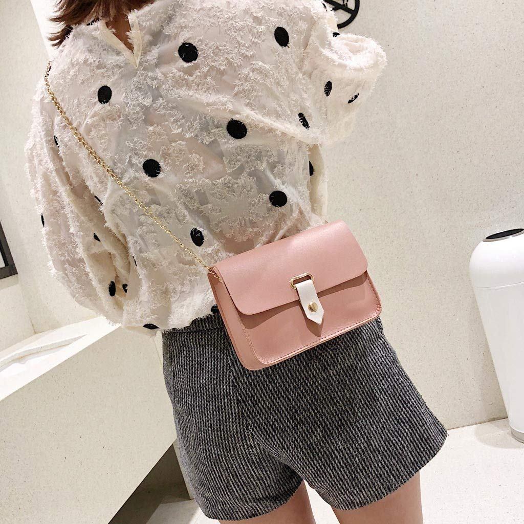 Womens Fashion Simple Shoulder Messenger Bag Wild Casual Small Square Bag