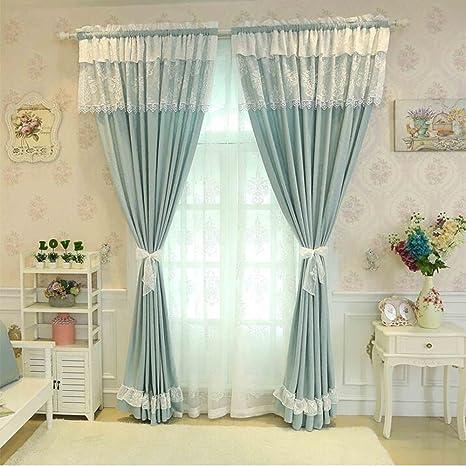 clichtg European pastoralen elegante simplicidad algodón cortinas ...