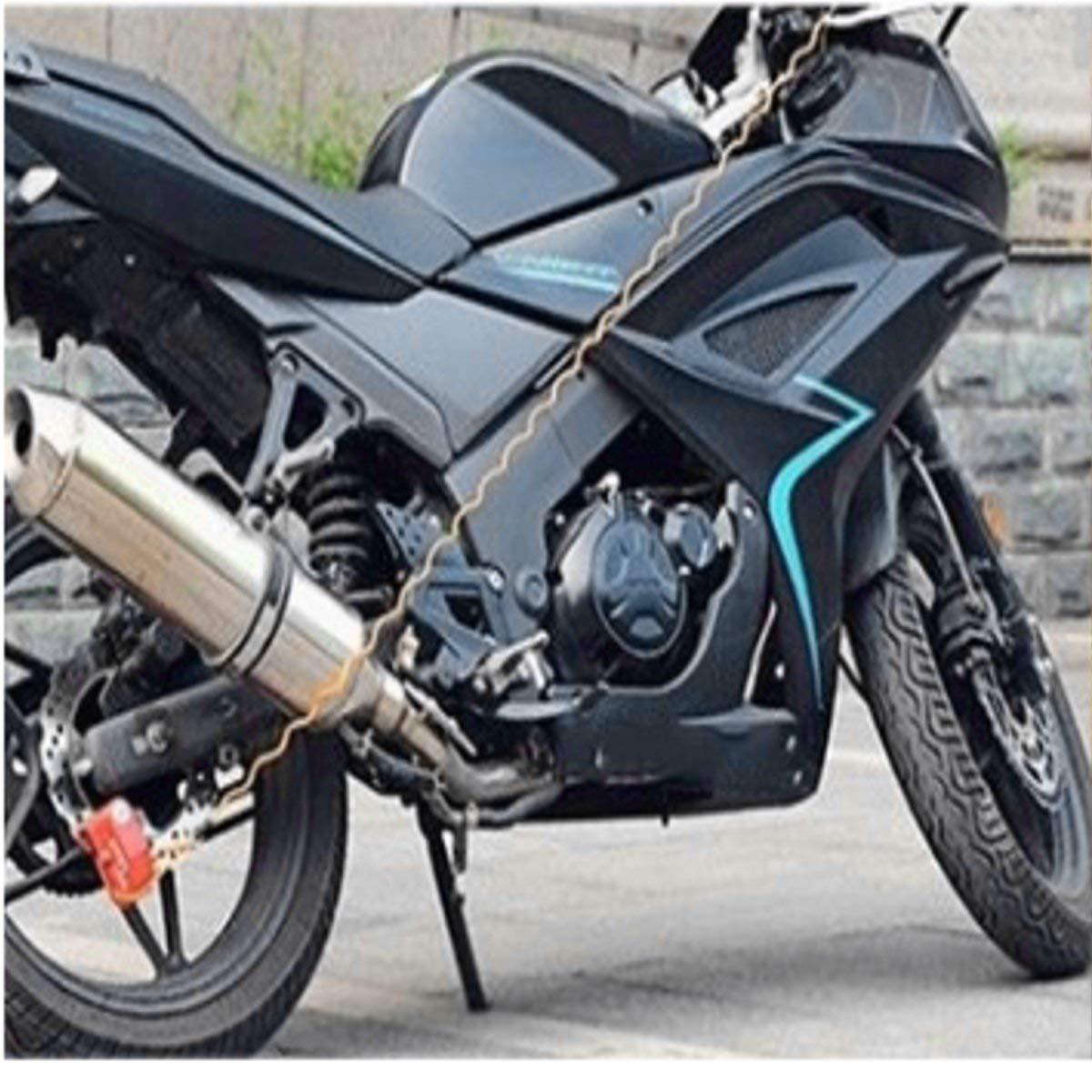 TENGGO 150Cm Motocicleta Moto Anti Ladr/ón Alarma De Disco De Bloqueo Safty Recordatorio Fuerte Cable Bicicleta Ciclismo Lock-Azul