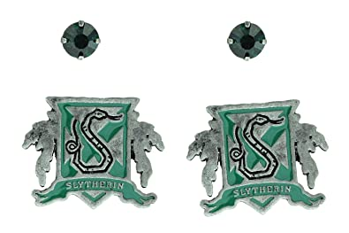 d0a166003 Harry Potter Slytherin House Crest Stud Earring Set: Amazon.co.uk: Jewellery