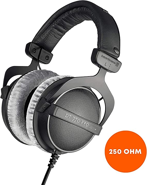 beyerdynamic DT 770 PRO 250 Ohm Over-Ear Studio Headphones in Black. Closed Construction