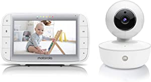 """Motorola Video Baby Monitor 5"""" Color Parent Unit, Remote Pan/Tilt/Zoom, Portable Rechargeable Camera, Two-Way Audio, Night Vision, 5 Lullabies, MBP36XL"""