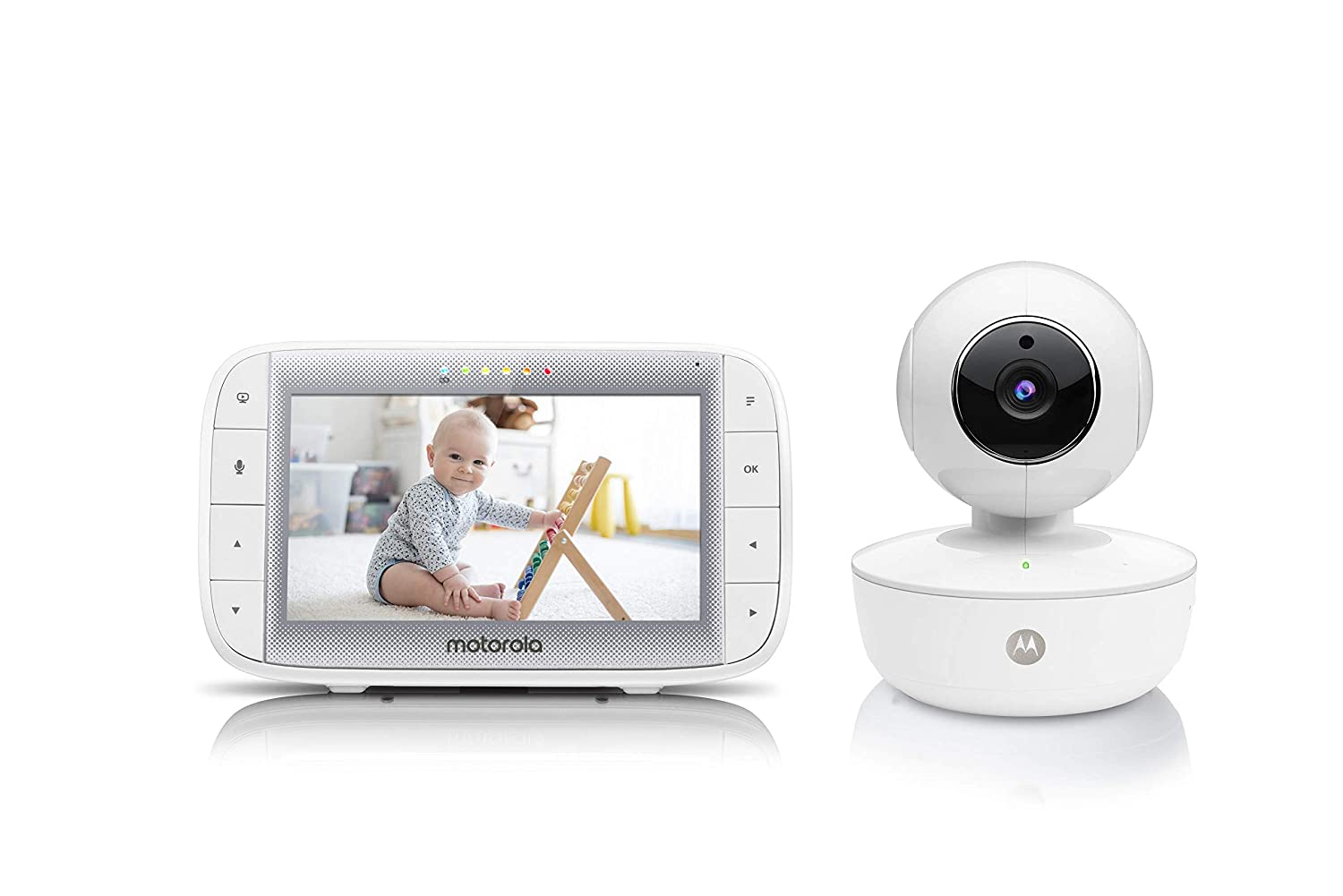 "Motorola Video Baby Monitor 5"" Color Parent Unit, Remote Pan/Tilt/Zoom, Portable Rechargeable Camera, Two-Way Audio, Night Vision, 5 Lullabies, MBP36XL : Baby"