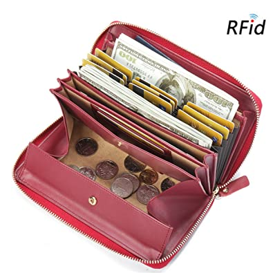 Coin Purses & Holders Analytical Genuine Leather Card Pack Organizer Business Rfid Credit Card Holder Women Travel Card Bag Zipper Small Change Purse For Women Complete In Specifications