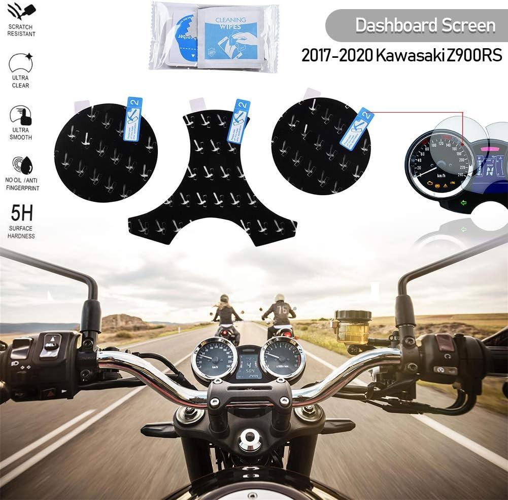 Fatexpress Motorrad Instrumente Cluster Kratzschutz Tacho Armaturenbrett Tacho Film Displayschutz Set Für 2017 2018 2019 2020 Kawasaki Z900rs Z900 Rs Zubehör 17 20 Auto