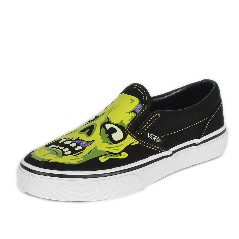 Vans - Kids Classic Slip-On Shoes, UK: 13 UK Junior, (Night Glow ...
