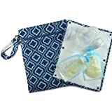 "Sarah Wells ""Pumparoo"" for Breast Pump Parts, Wet Dry Bag with Staging Mat (Navy)"