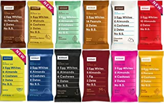 product image for RXBAR Real Food Protein Bar, Variety Pack 12 Different Flavors, Gluten Free, 1.83 oz Bars, (12 Count)