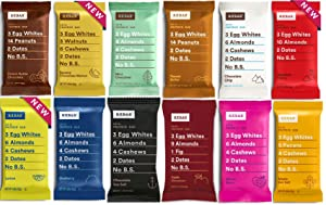 RXBAR Real Food Protein Bar, Variety Pack 12 Different Flavors, Gluten Free, 1.83 oz Bars, (12 Count)