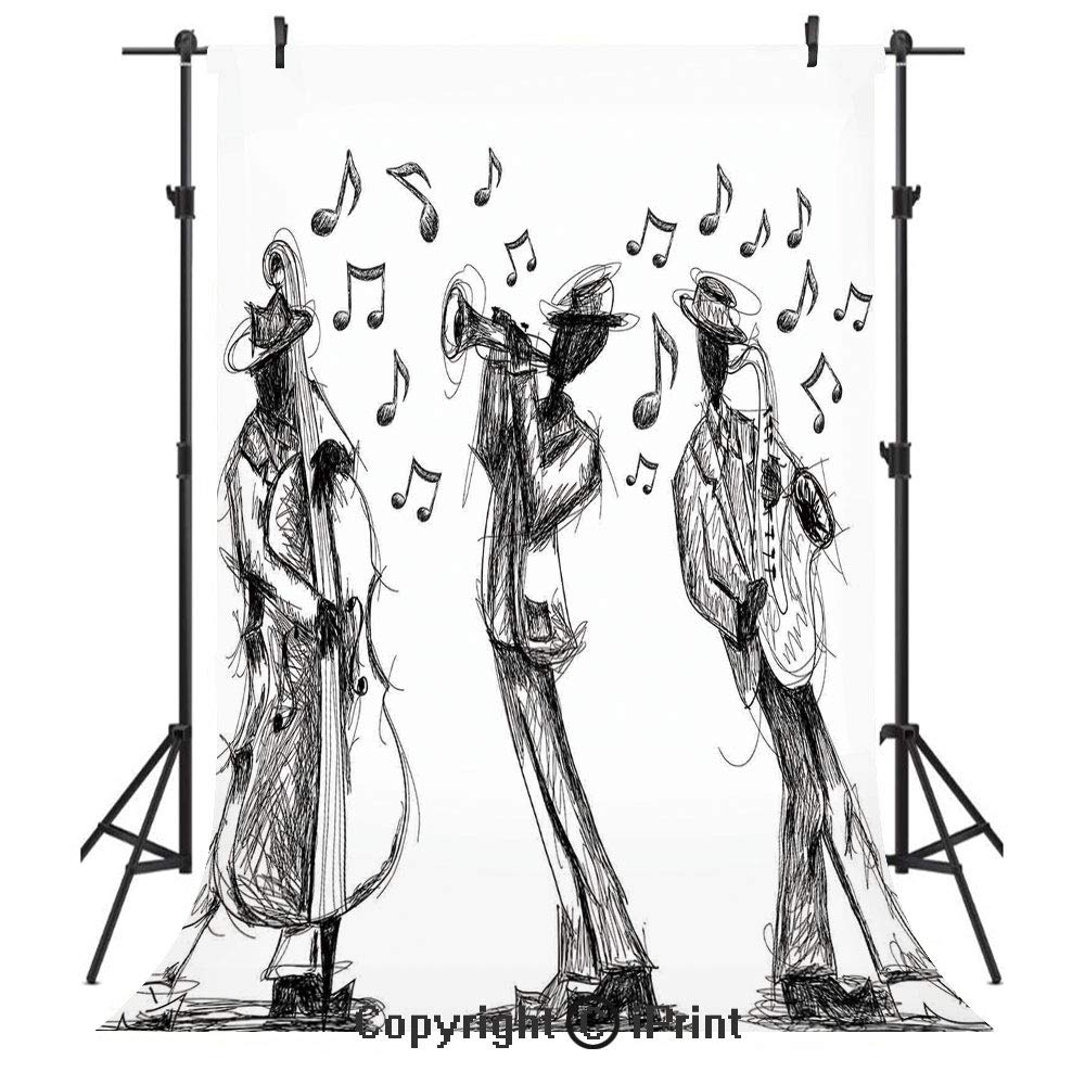 Amazon com jazz music decor photography backdrops sketch