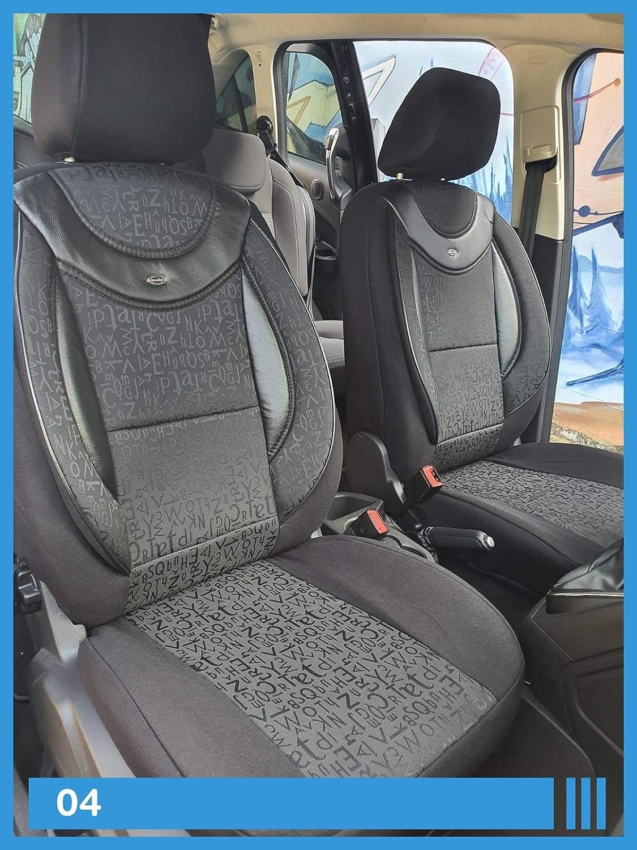Maß Sitzbezüge Kompatibel Mit Vw T5 T6 Caravelle Transporter Fahrer Beifahrer Ab Bj 2003 Farbnummer 04 Baby
