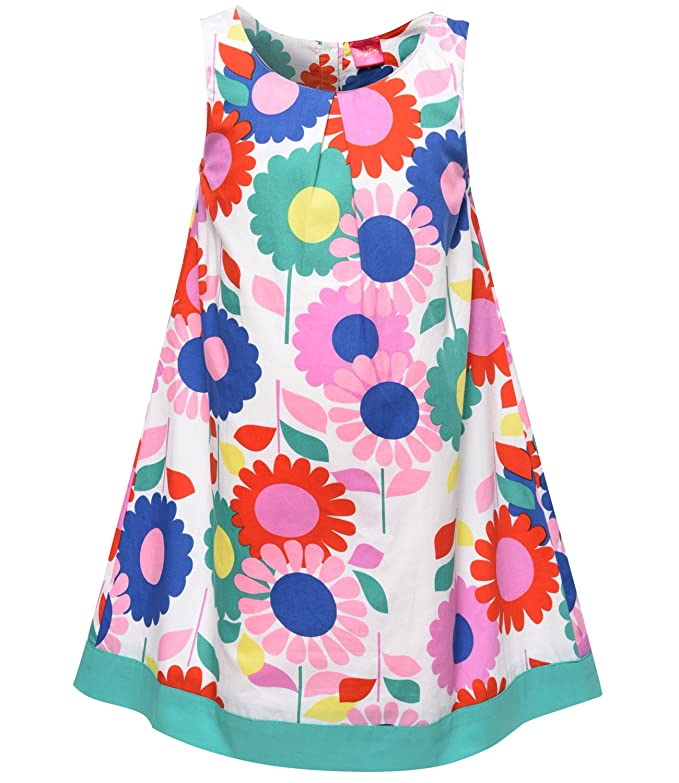 60s 70s Kids Costumes & Clothing Girls & Boys SPEINY Girls Sleeveless Pleated Flower Clothes Flared Dress $18.31 AT vintagedancer.com