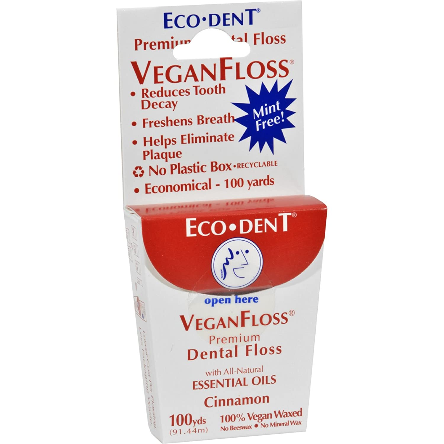Eco-Dent VeganFloss Cinnamon (Pack of 6) 100 Yards