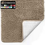 Gorilla Grip Original Luxury Chenille Bathroom Rug Mat, Extra Soft, Durable, and Absorbent Shaggy Rugs, Machine Wash Dry…