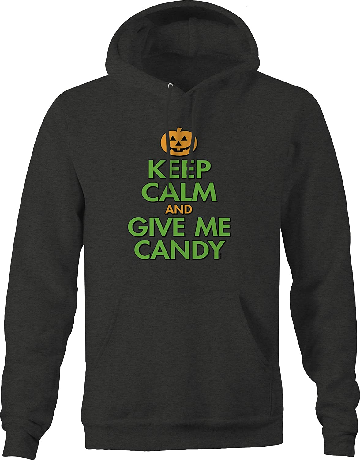 Keep Calm and Give Me Candy Jack O Lantern Trick or Treat Spooky Hoodies for Men