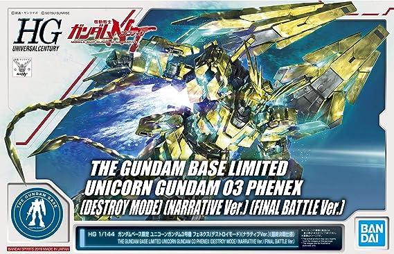 4573102592507 Maquette Gundam Bandai Unicorn Gundam 03 Phenex Destroy Mode Narrative Ver Gunpla HG 1//144 13cm