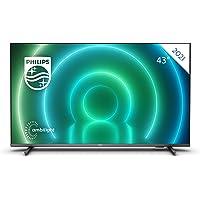 Philips 43PUS7906 / 12 Android TV LED de 43 Pulgadas, Smart TV 4K con Ambilight, Imagen HDR Vibrante, Dolby Vision…