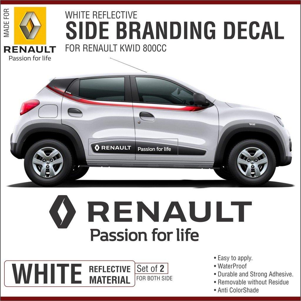 Carmetics renault passion for life sticker graphics decals for renault kwid door mouldings 2 set of stickers kwid door stickers amazon in car