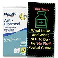 Anti-Diarrheal, Loperamide HCL 2 mg - 24 Caplets Tamper Resistant Blister Packs. + 'No Fluff' Anti-Diarrhea Pocket Guide