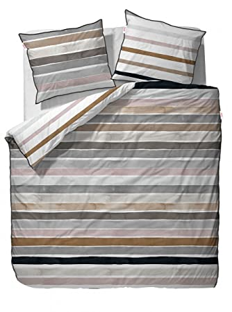 Esprit Iva Mako Satin Bettwäsche Beige 200x200 2 X 80x80 Amazon