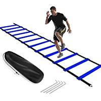KIKILIVE Agility Ladder, Speed Agility Training Footwork Equipment 12 Rung with Carrying Bag for Sports Soccer, Football…