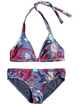 Roxy Maillot 2 pièces Shadow Call The Sun Print Halter Magasin De Sortie Pour BhsmFG