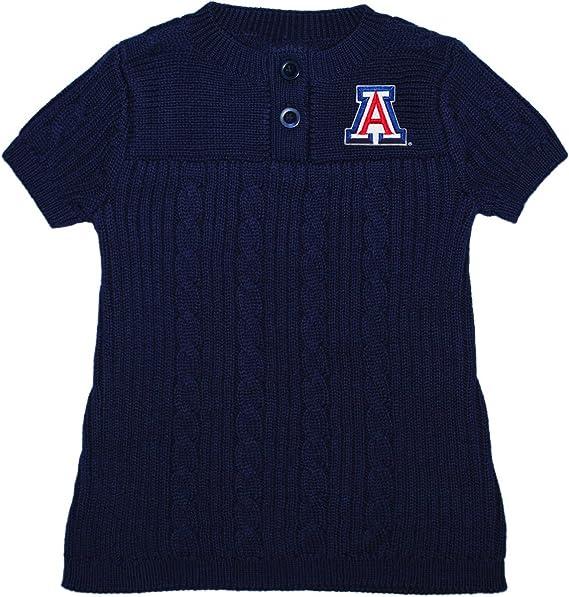 12 Months Dark Navy Outerstuff NCAA Arizona Wildcats Infant Primary Logo Short Sleeve Tee