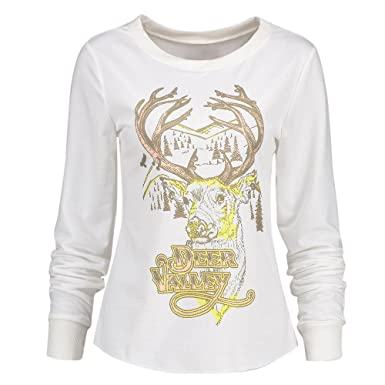 4e63bb45196 SEWORLD Women Christmas Print Long Sleeve Top T-Shirt Blouse  Amazon.co.uk   Clothing