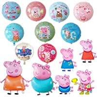 15 Pcs Pink Pig Helium Foil Balloons,Pink Pig Theme Birthday Party Decoration for Kids