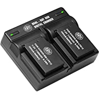 BM Premium 2-Pack of LP-E12 Batteries and USB Dual Battery Charger for Canon SX70 HS, Rebel SL1, EOS-M, EOS M2, EOS M10, EOS M50, EOS M100 Mirrorless Digital Cameras