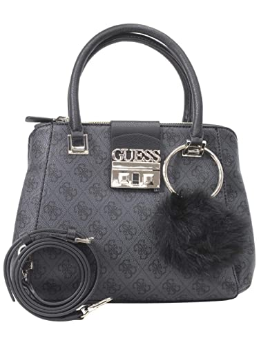0f78ffa850 Guess Women s Logo Luxe Small Coal Society Satchel Handbag  Handbags   Amazon.com