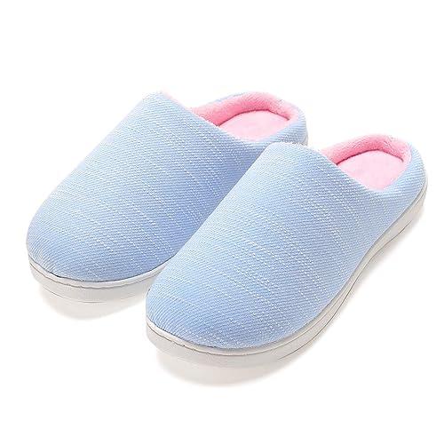 Zapatillas de Casa Mujer, Ultraligero cómodo y Antideslizante, Zapatilla de Estar por casa para Mujer: Amazon.es: Zapatos y complementos