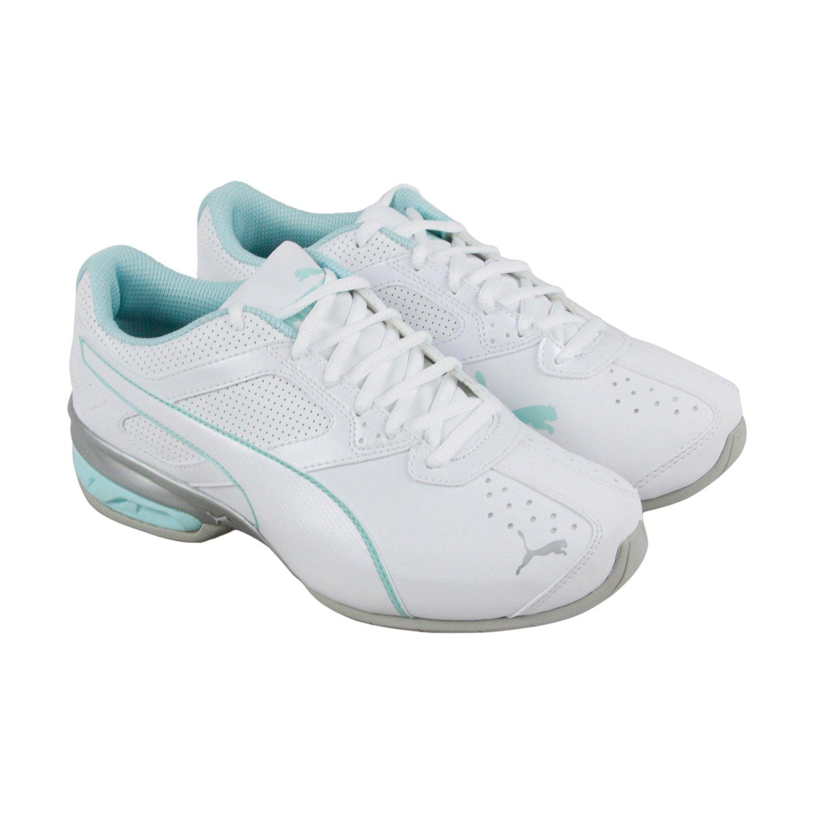 PUMA Women's Tazon 6 Wide Wn Sneaker, White-Island Paradise Silver, 8 W US
