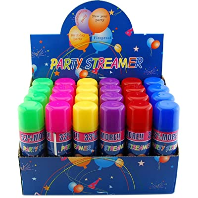 VIP Home Essentials 72 Pack of Party Streamer Spray String in a Can Children's Kid's Party Supplies, Perfect for Parties/Events: Toys & Games