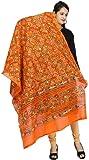 Banjara Women'S Cotton Kutchi Dupatta - Rasna (RSN11 _Tangy Orange _Handicraft Dupatta_Free Size)