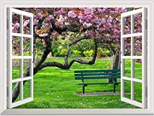 """wall26 Removable Wall Sticker/Wall Mural - Cherry Blossom in Spring 