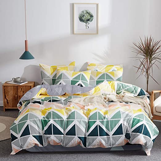 Amazon Com Uozzi Bedding 3 Pieces Colorful Duvet Cover Set Queen