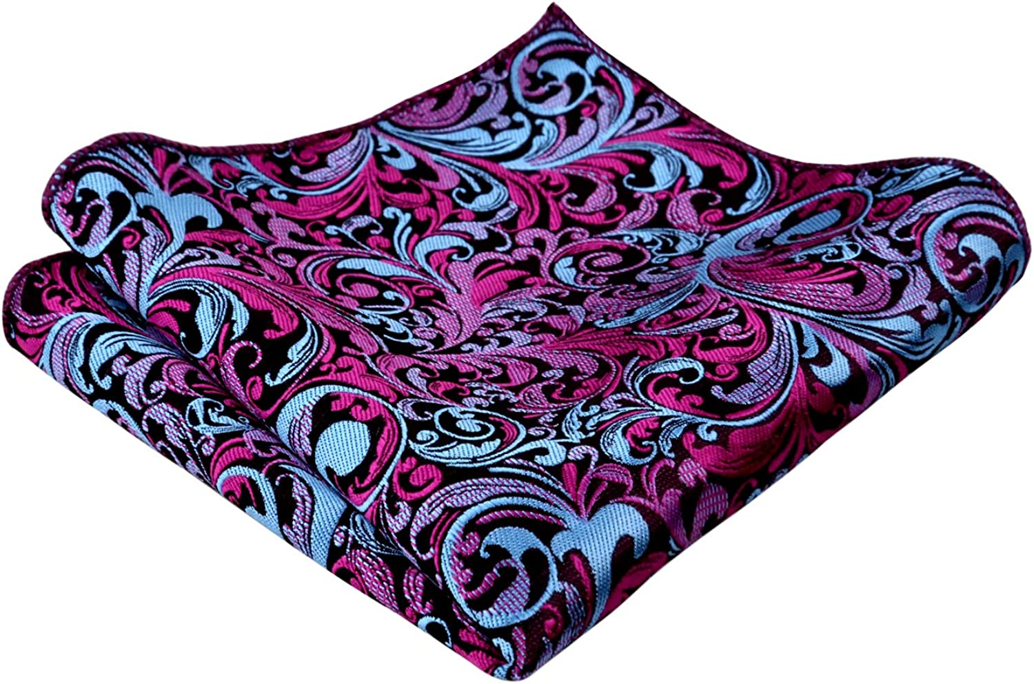 Alizeal Mens Paisley Necktie with Pocket Square Set