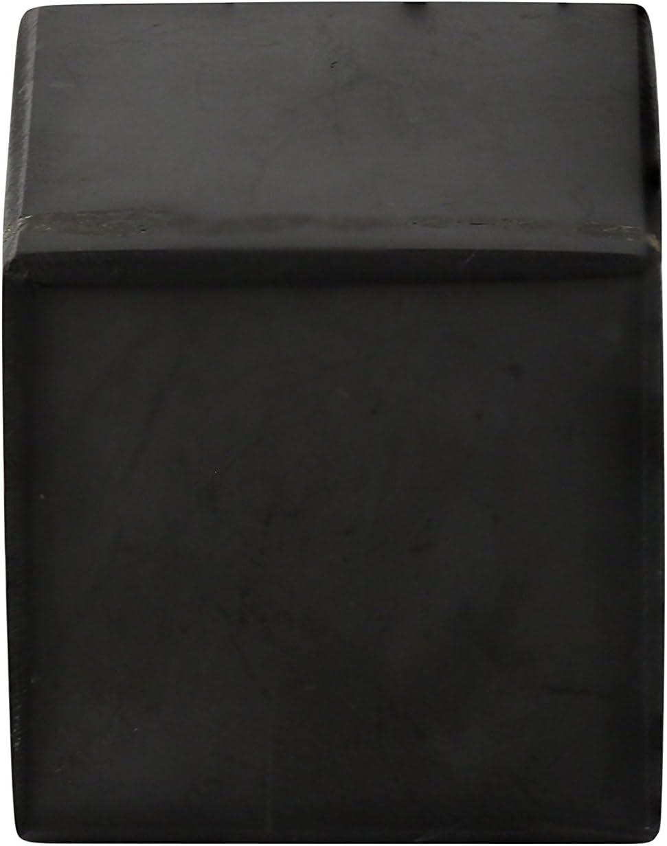 Heka Naturals Cubo de Shungita Pulido 5 cm, Contiene Fullerenos para Protección contra CEM | Auténticas Piedras Shungita de Karelia Usadas para Meditación y Equilibro Energético | Cubo de 5 cm