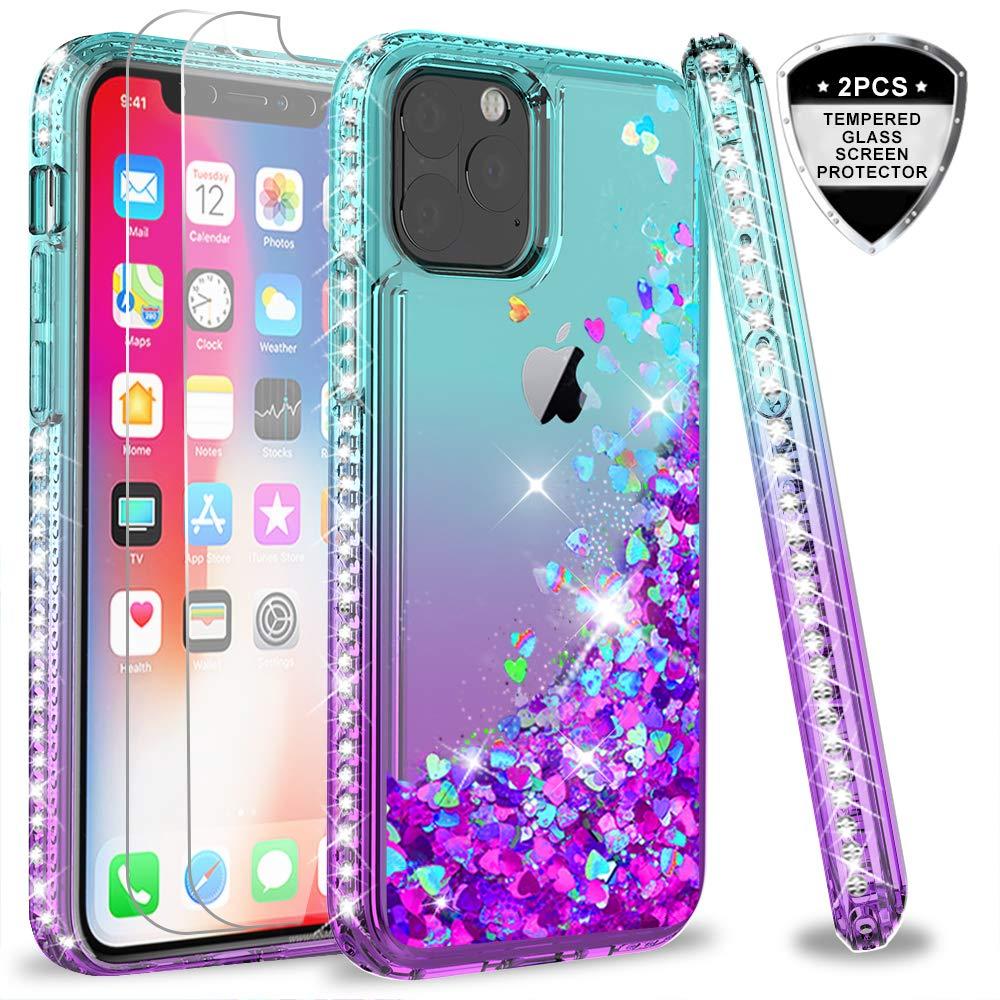 Funda + Vidrio iPhone 11 Pro Max Glitter Leyi [7vqtyjxd]