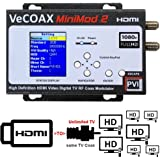 MINIMOD 2 2018 - HDMI TO COAX MODULATOR for HDMI Video Distribution Over TV Coax Cables To All TVs in Every Room - FULL HD 1080p ENCODING with Dolby