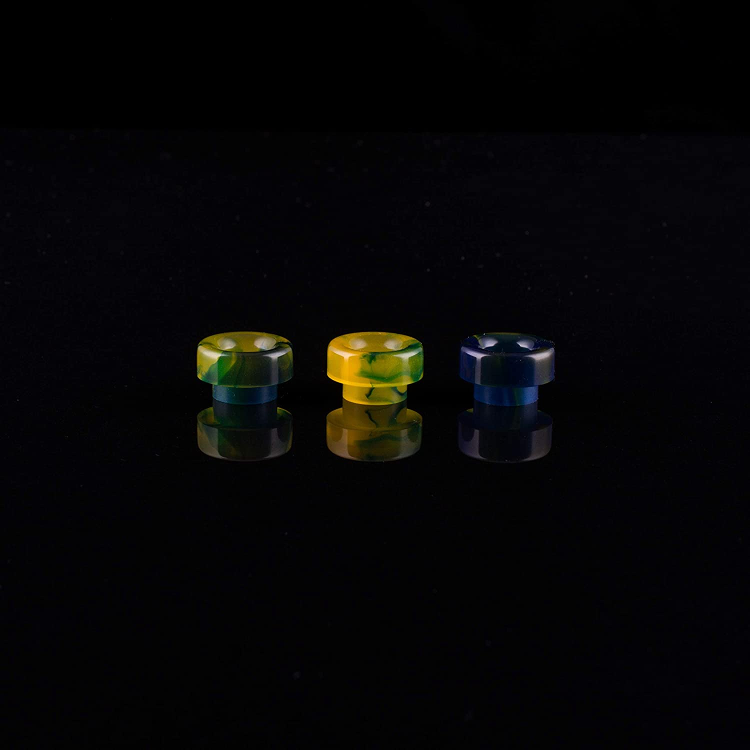 Diameter of Landing is 12,5 mm 810 Drip Tips from Acrilic no O-Ring Fit Blue /& Yellow /& Green