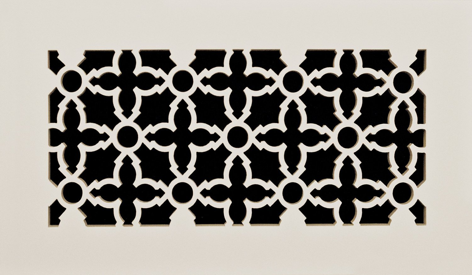 Decorative Vent Cover for a 20x10 Opening. Resin Paint Grade Grille Can Be Used As Return, Supply, Foundation Vent, Register. Heritage Flat Design. 22x12 Overall Size