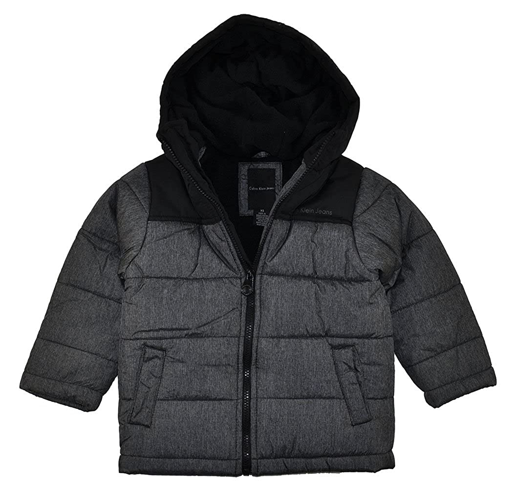 Calvin Klein Boys Charcoal & Black Bubble Outerwear Coat 3256005-04-101614-PR